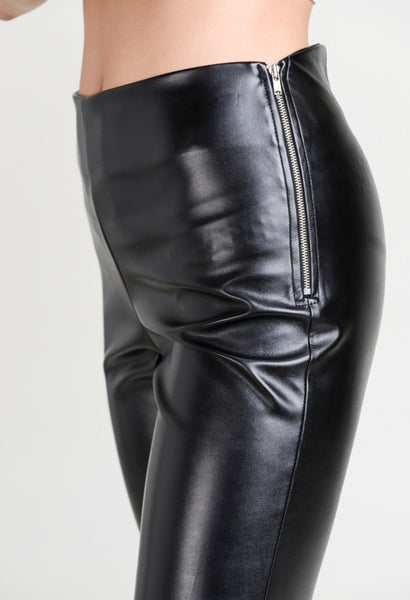 BLACK Skinny Faux Leather Pants All. The. Rage.