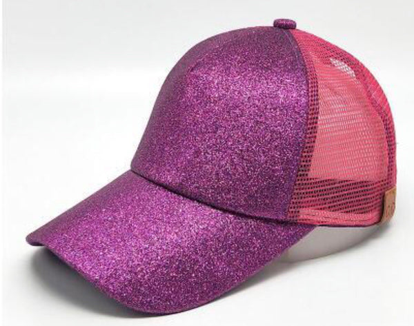 CC Glitter Pony Tail/Messy Bun Hats