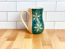 Load image into Gallery viewer, Poinsettia Curve Mug