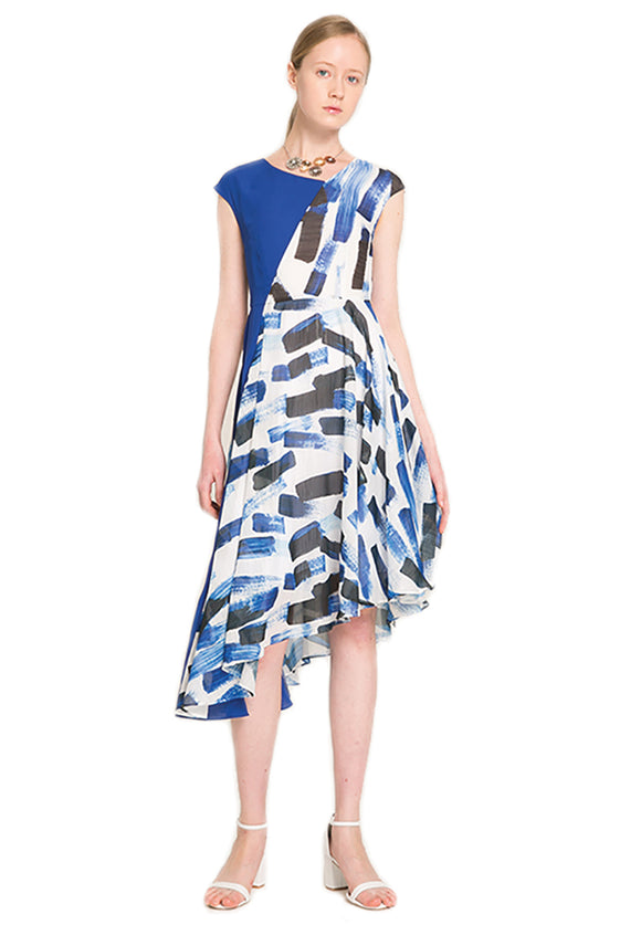 Herrera Asymmetrical Midi Dress