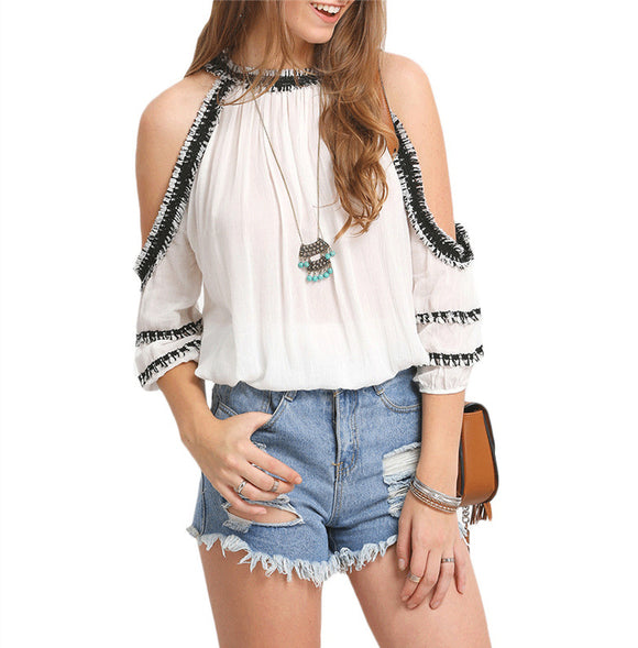 Kors Off-shoulder Blouse