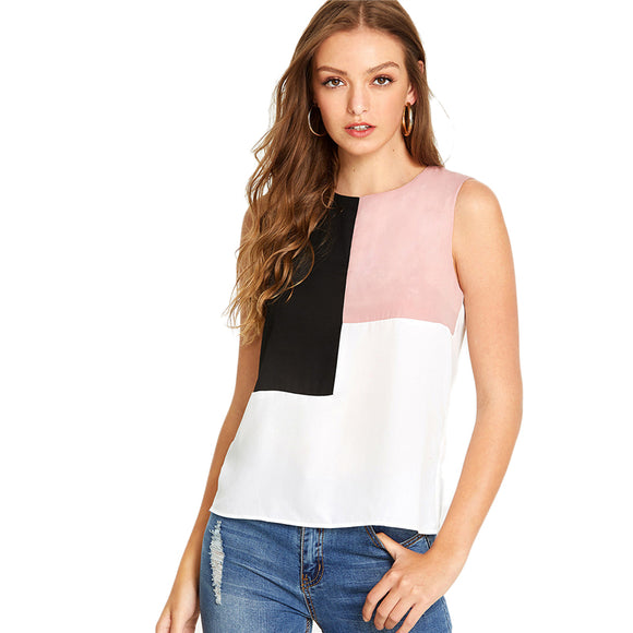 Bottin trio-color sleeveless top