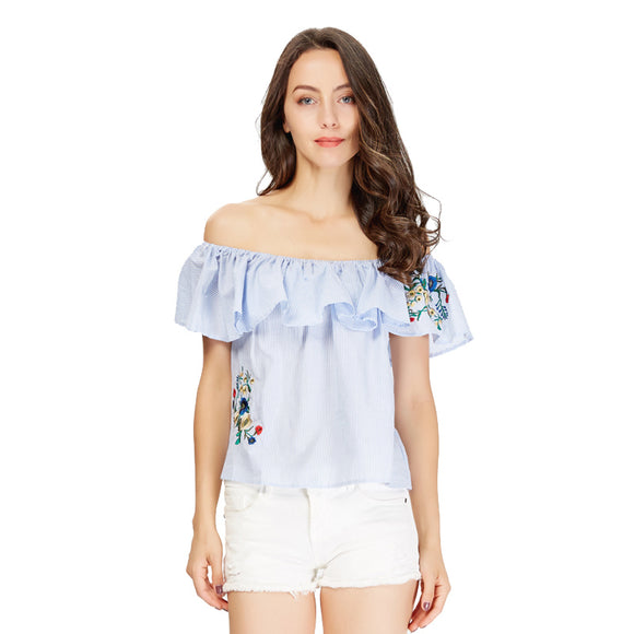 Vector Off shoulder Ruffles Blouse