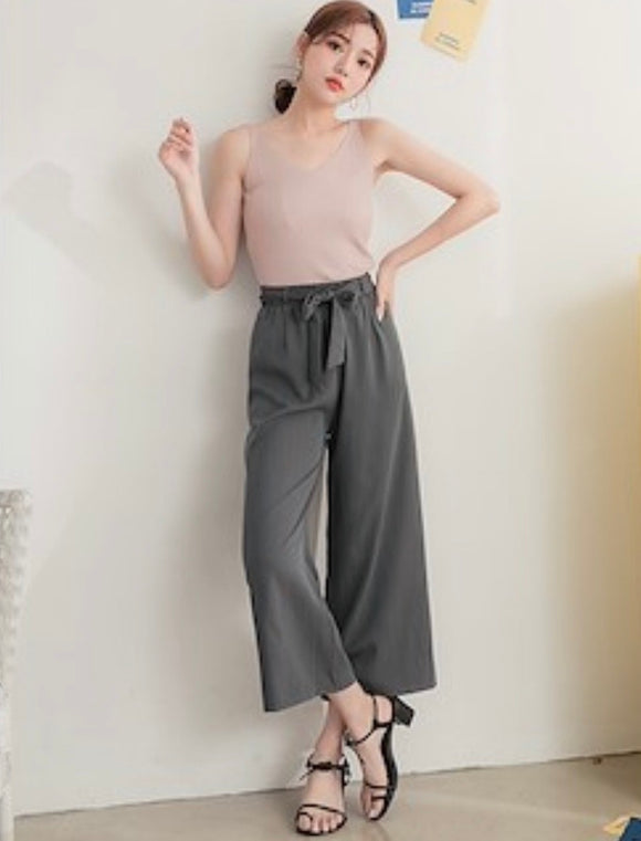 Havana Culottes in light grey and army green