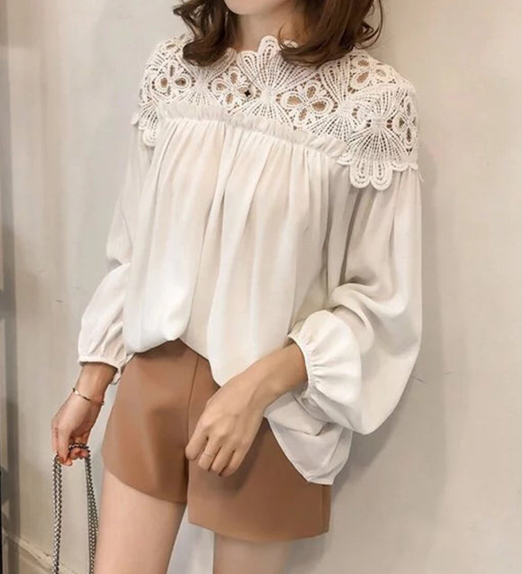 crochet white blouse