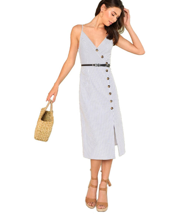 Button-down Midi Dress