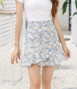 Floral Mini Skirt with inner-lining shorts