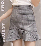 Gingham Mini Skirts with black inner-lining shorts