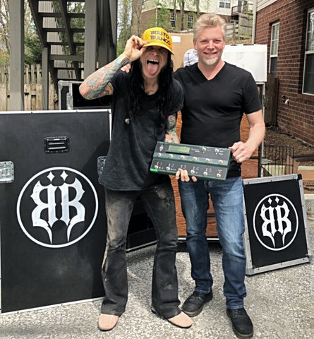 Chuck Garric of Alice Cooper with his new British Audio Big Stage Mod for his Kemper Profiler Remote - British Audio
