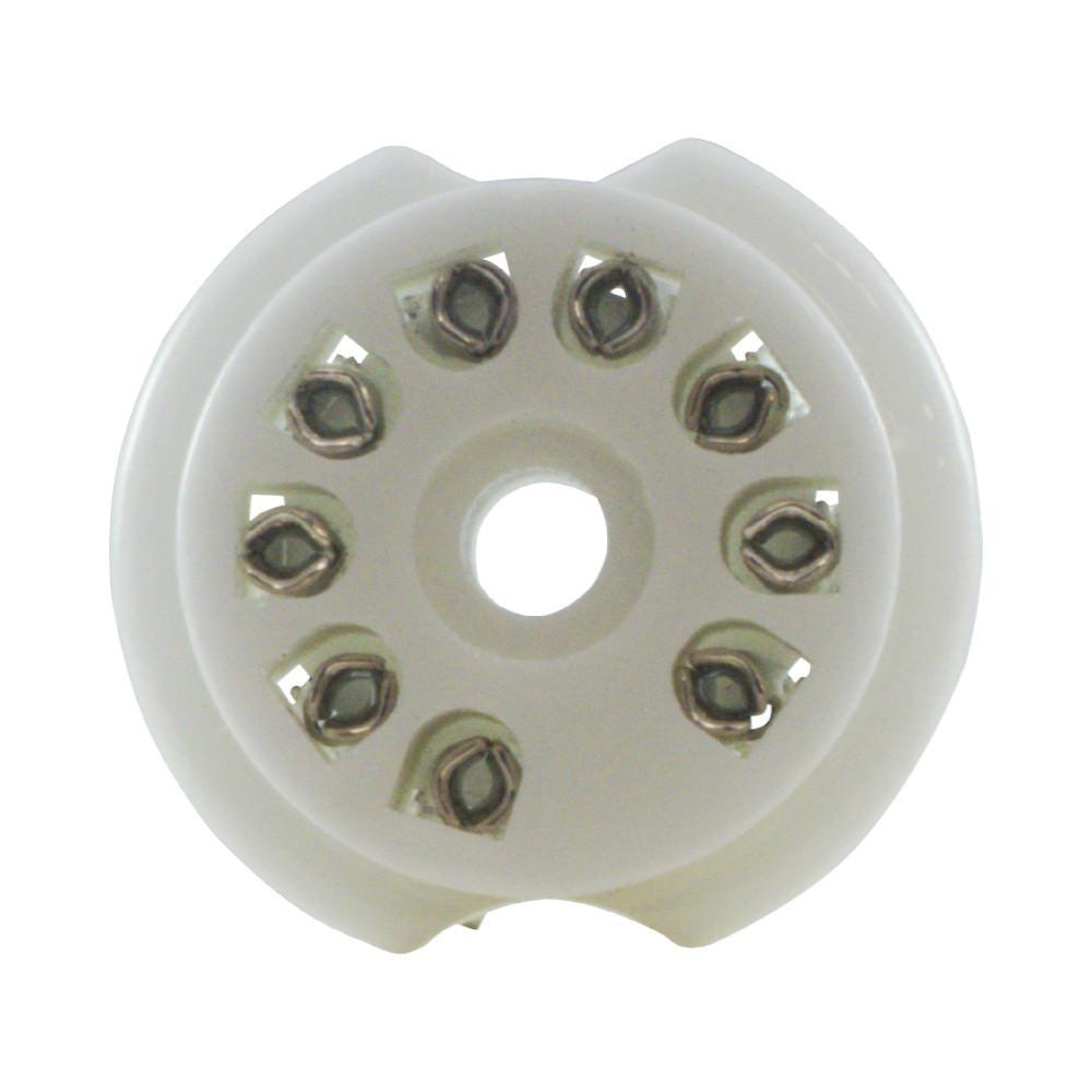 Tube Socket Porcelain 9 Pin PC Mount - British Audio