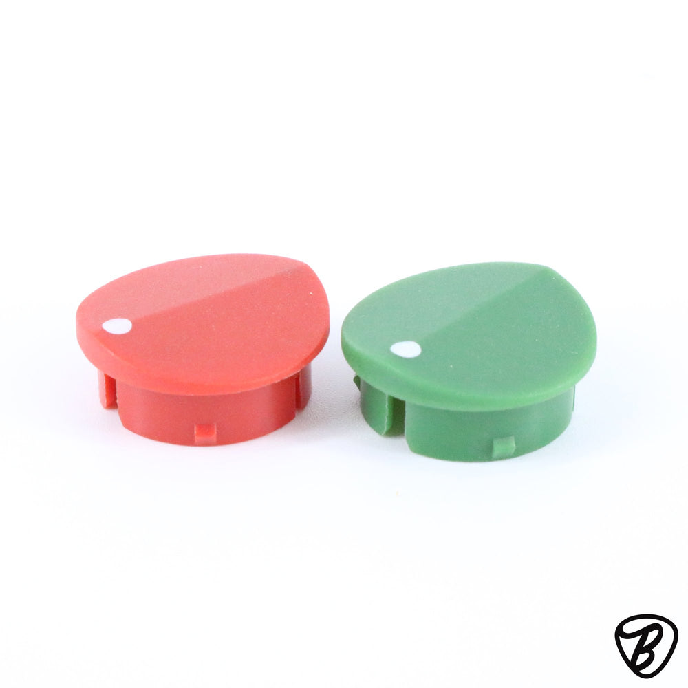 Trace Elliot Knob Caps Red & Green Sets of 2 for MKV, SM, SMX, GP12, 12-Band, 7-Band