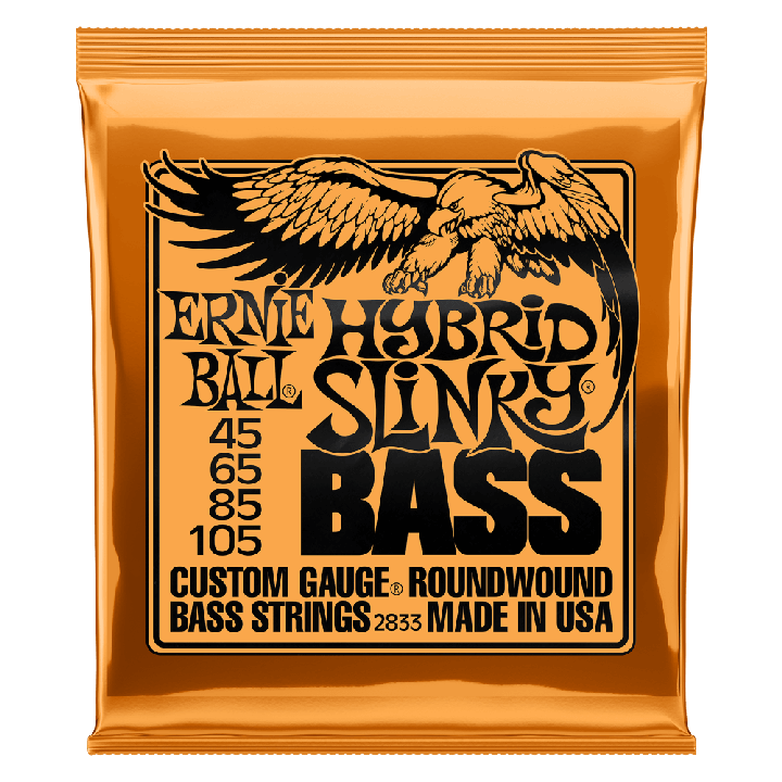 ERNIE BALL HYBRID SLINKY NICKEL WOUND ELECTRIC BASS STRINGS - 45-105 GAUGE - British Audio