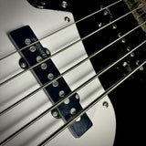 Vintage® Reissued VJ75MBK Electric Bass Gloss Black - British Audio