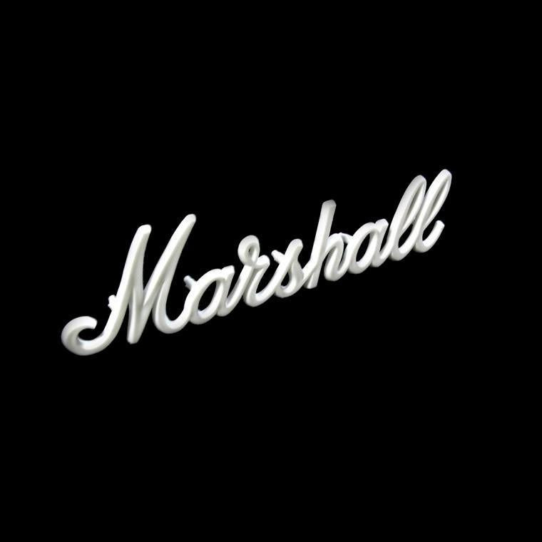 "Marshall 6"" OEM White Script Logo - British Audio"