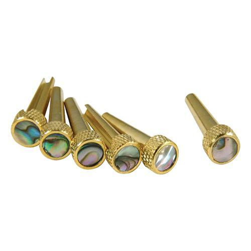 TONE PINS – SOLID BRASS W/ ABALONE - British Audio