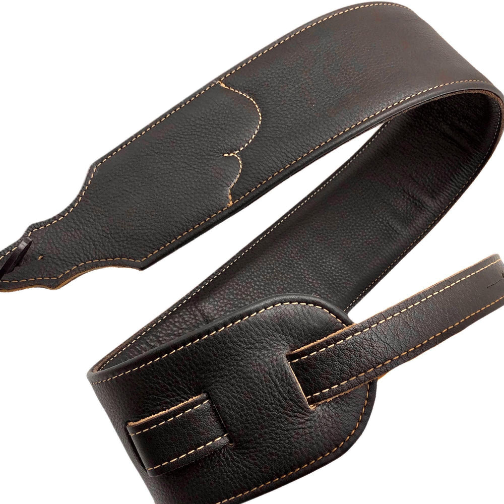 "Franklin Strap Padded Glove Leather Guitar Strap, 3"" Clearance"