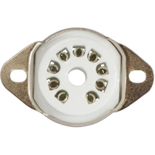 Tube Socket - 9 Pin Ceramic Miniature Chassis Mount