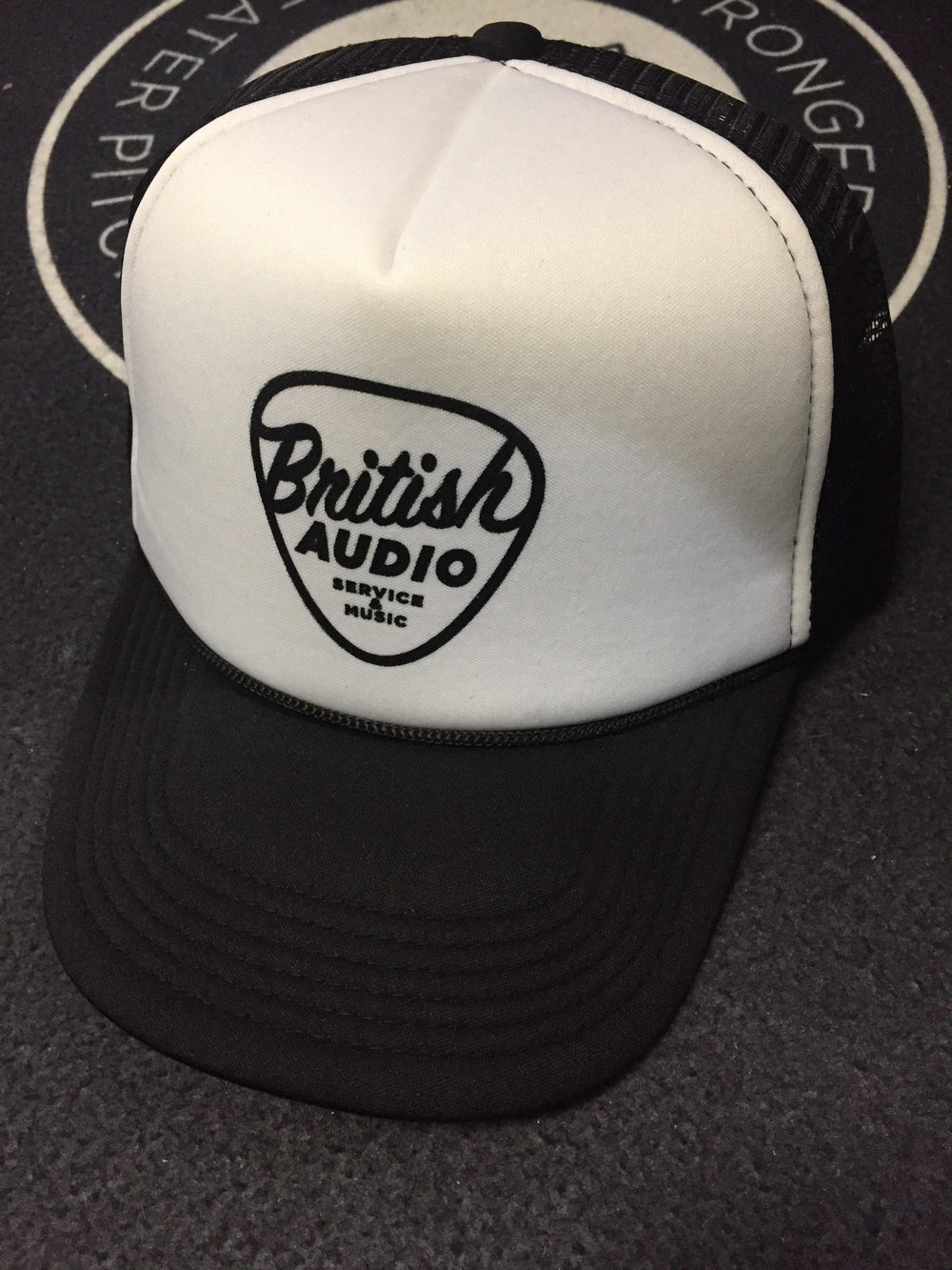 British Audio Trucker Hat Black and White - British Audio