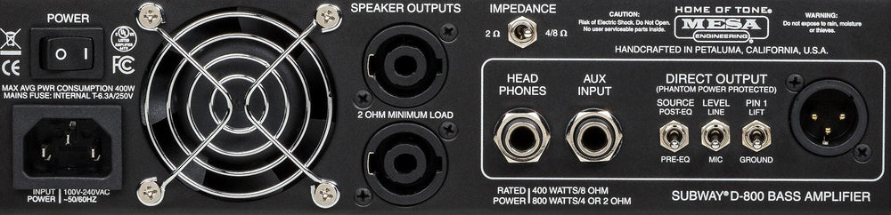 Mesa/Boogie Subway D-800 XLR Connector