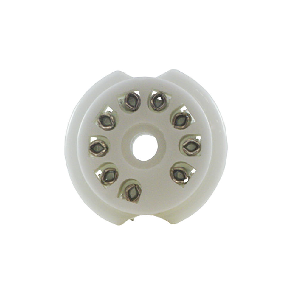 Porcelain 9-pin Tube Socket