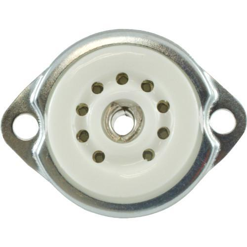 Tube Socket - 9-Pin Miniature Ceramic Bottom/Top Mount
