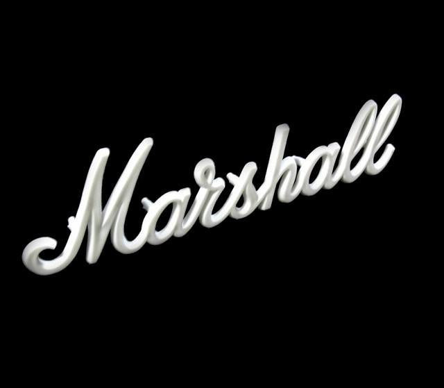 "Marshall 11"" OEM White Script Logo JCM800 JCM900 - British Audio"
