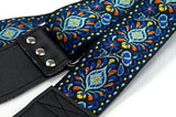 Couch Hendrix Style Electric Blue Hippie Weave Guitar Strap - British Audio