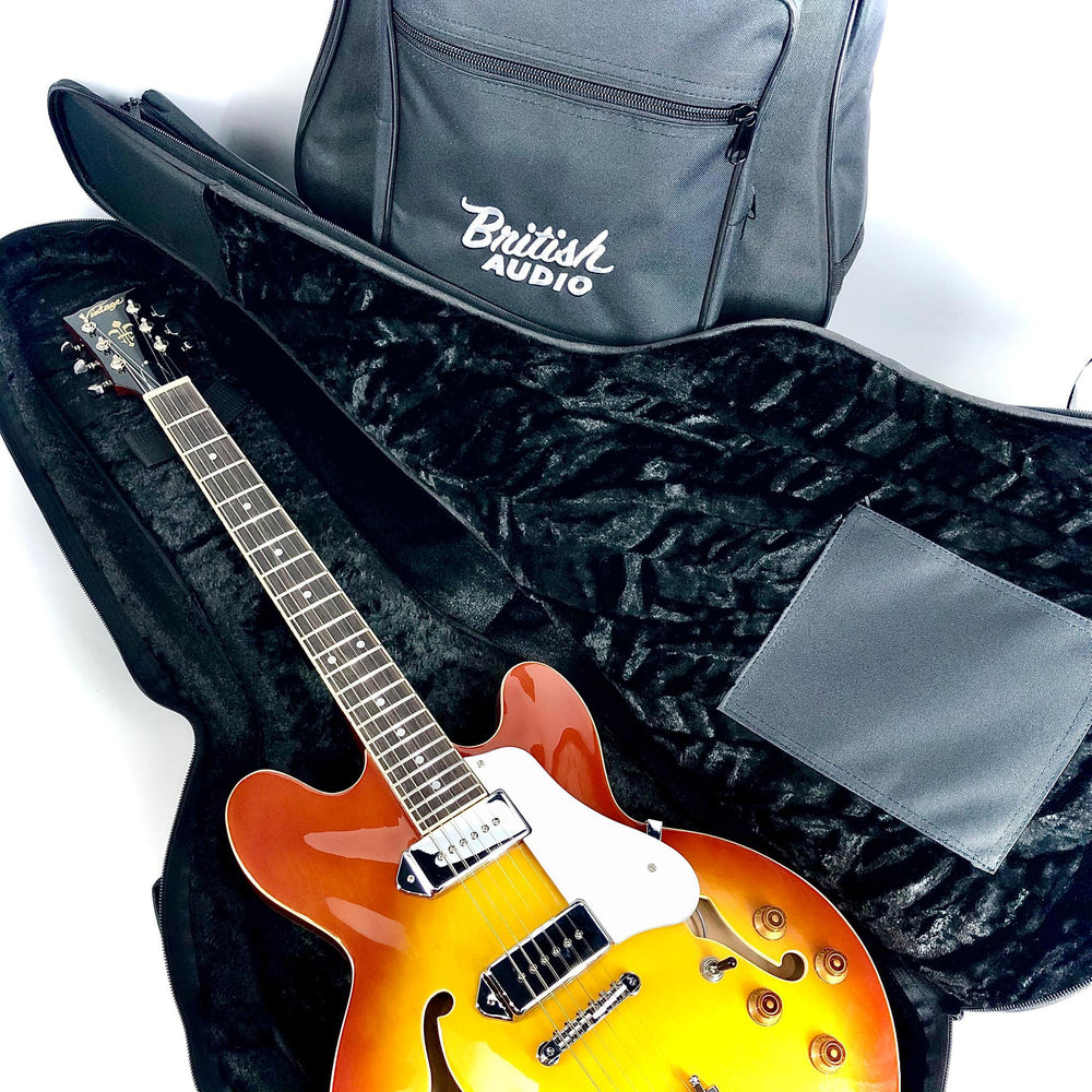 Gigbag 335 Acoustic/Electric Guitar Soft Case w/British Audio Silver Logo - British Audio