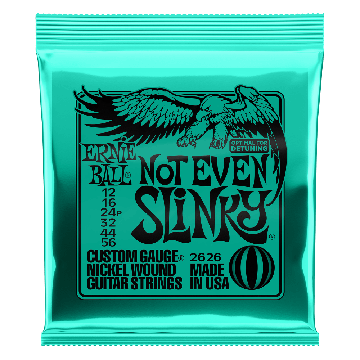ERNIE BALL NOT EVEN SLINKY NICKEL WOUND ELECTRIC GUITAR STRINGS - 12-56 GAUGE - British Audio