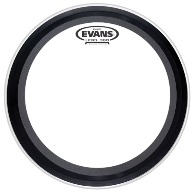 "Evans EMAD2 (2-Ply) Clear 22"" Batter Kick Head - British Audio"