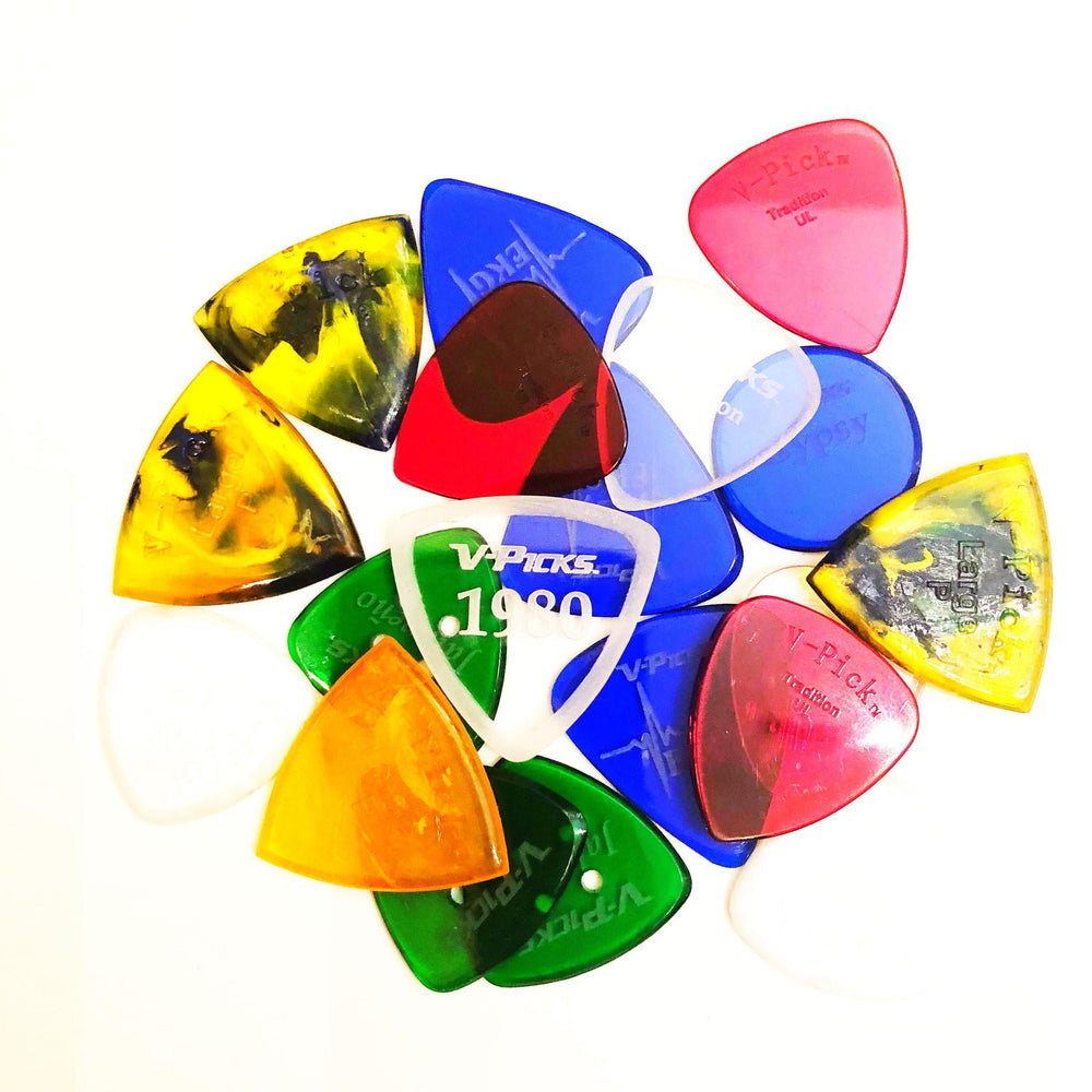 $4.99 ea/V-Picks Guitar Picks & Mandolin Picks Assorted - British Audio