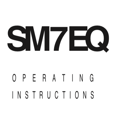 Trace Elliot SM7EQ Pedal User Manual - British Audio