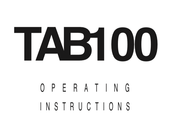 Trace Elliot TAB100 User Manual - British Audio
