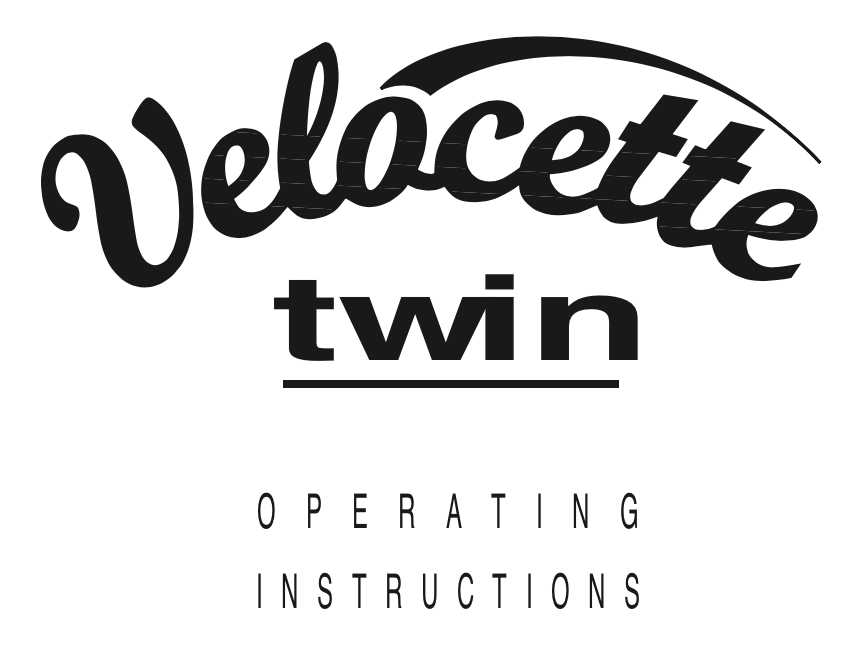 Velocette Twin User Manual | Trace Elliot Parts