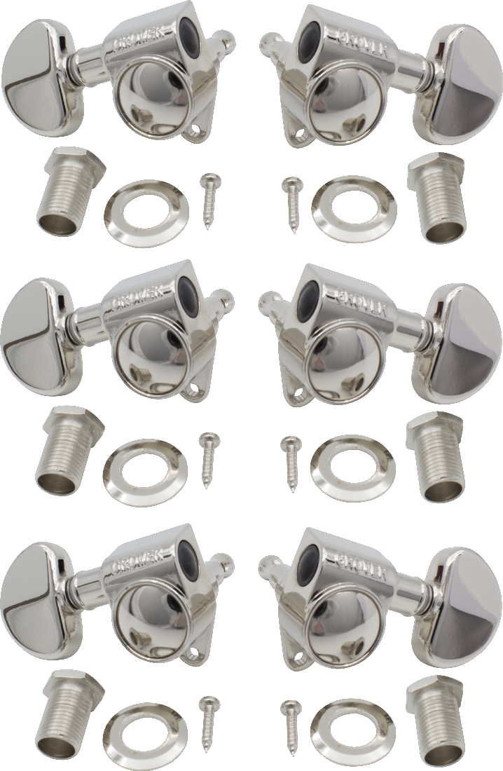 Grover Original Rotomatics® (102 Series) 3 per side - Nickel - British Audio