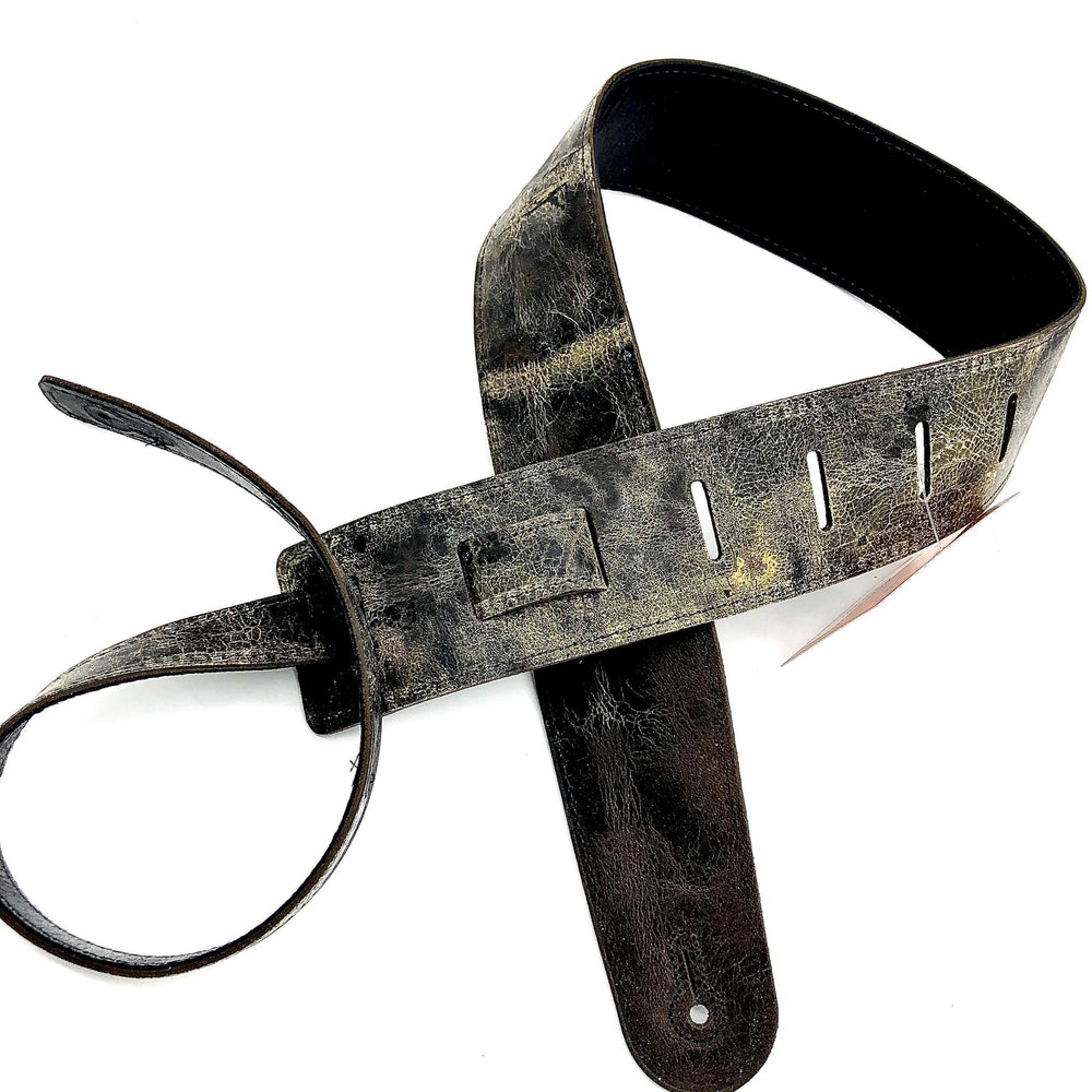 "Henry Heller 2.5"" Double Layer Distressed Leather, Black - British Audio"
