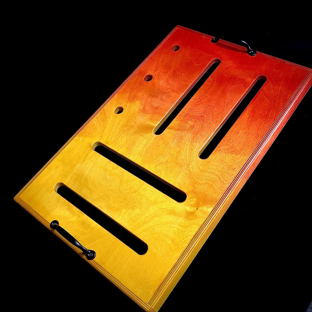 "Sam Hill Custom ""Flame""  Pedalboard - British Audio"