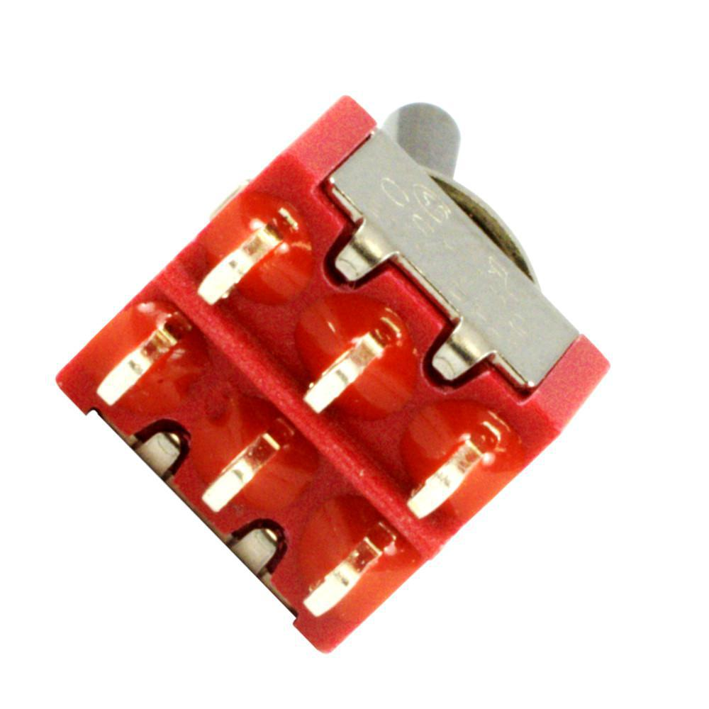 Carling Mini Toggle Guitar Switch,  DPDT, 2 Position (on-on) Coil Tapping or Series/Parallel