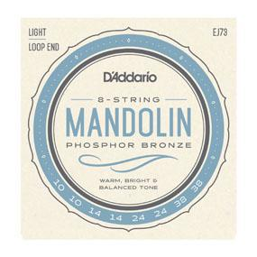 D'Addario EJ73 Mandolin Strings, Phosphor Bronze, Light, 10-38 - British Audio