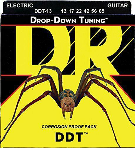 DR DDT-13 Drop Down Tuning DDT Electric Guitar Strings Mega-Heavy 13-65 - British Audio