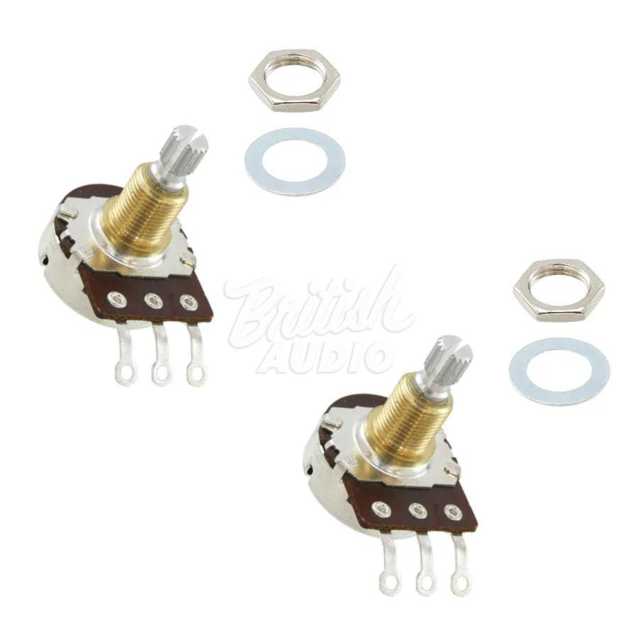 2 x Bourns 250K Audio, Low Torque, Split Shaft Pot - Strat ® Guitar Volume