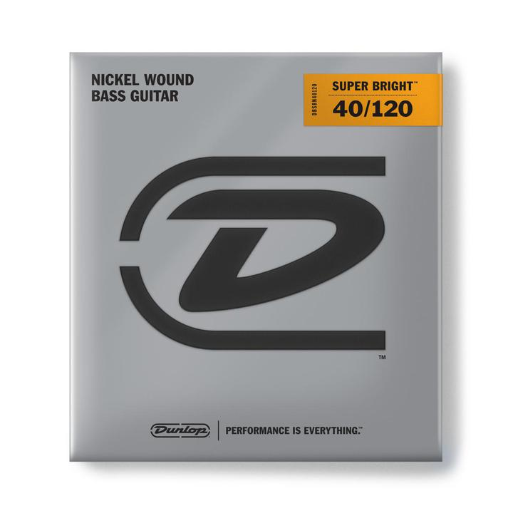 DUNLOP SUPER BRIGHT BASS STRINGS SET/5 40-120 - British Audio