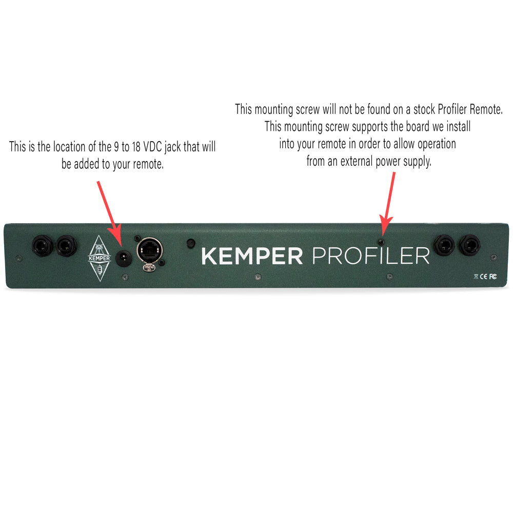 "Kemper Remote ""Big Stage"" Mod - British Audio"