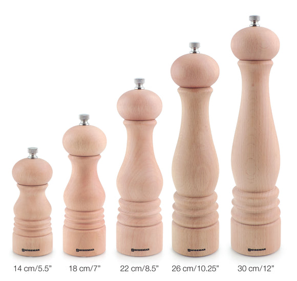 Salt and Pepper Mill | Natural Wood Finish | Castell | Swissmar