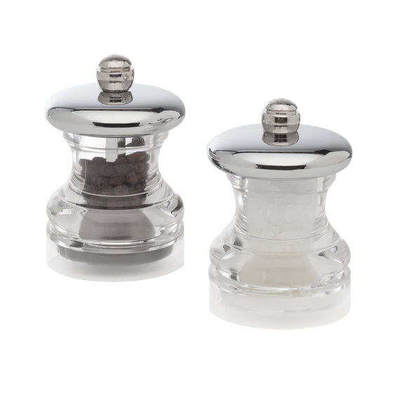 Salt and Pepper Mill Set | Button Chrome Top | Cole & Mason