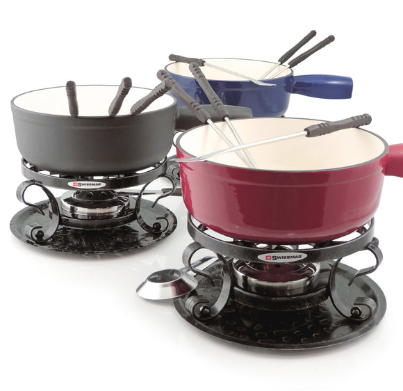 Swissmar Lugano 9 Pc Cast Iron Fondue Set