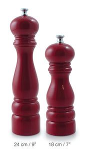 Salt and Pepper Mill | Wood | Red Lacquer Finish | Munich | Swissmar