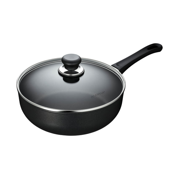 SCANPAN Classic Deep Sauté Pan with Glass Lid