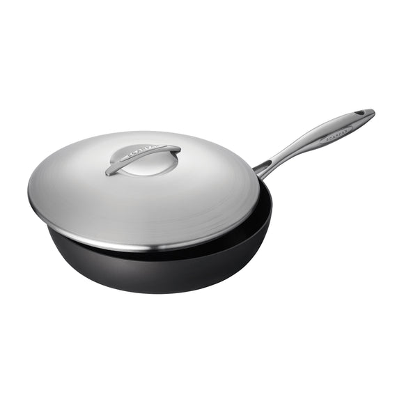 SCANPAN Professional Sauté Pan with Steel Lid