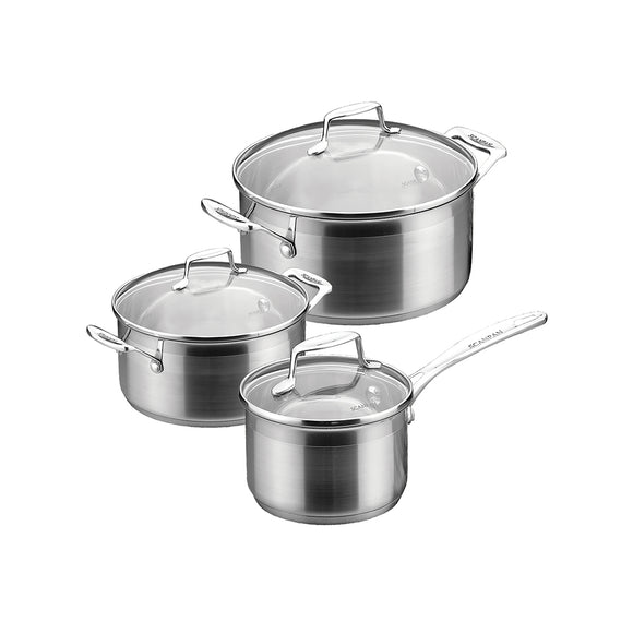 SCANPAN Impact Cookware Set with Glass Lid